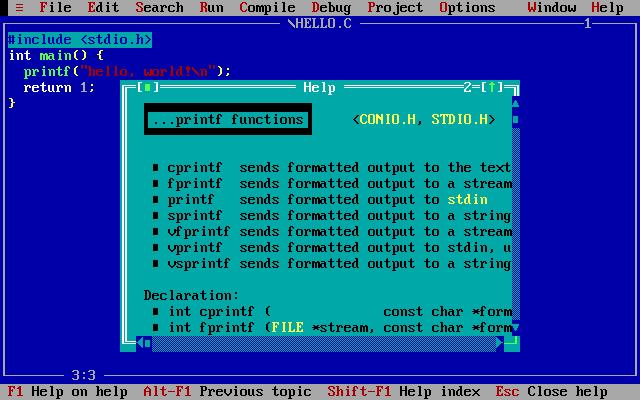 Esa 2009 07 28 Online compiler turbo c